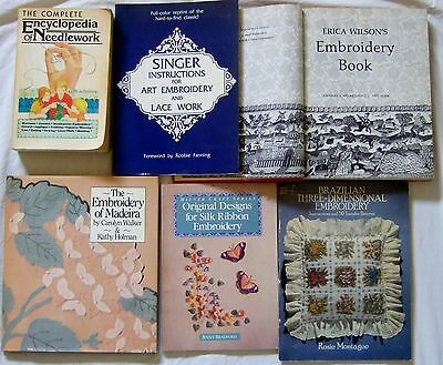 Lot of 6 - Embroidery and Needlecraft Books - (B)