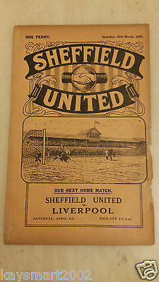1930/31 Central League: SHEFFIELD UNITED RES. v PRESTON NORTH END RES. 28th Oct.