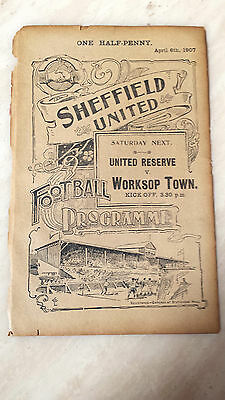 1906-07 SHEFFIELD UNITED RES v WYCLIFFE on 6th April