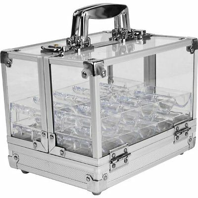 Trademark Poker 600 Pc Clear Acrylic Case with 6 100 Pc Chip Trays