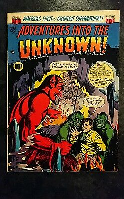 Adventures Into The Unknown #38 (ACG, 1952) Condition: Approx FN.....