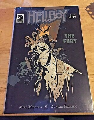 Hellboy The Fury #1-3 complete run Dark Horse 2011 Mignopla Fegredo comics