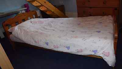 Wooden Toddler Bed and Mattress
