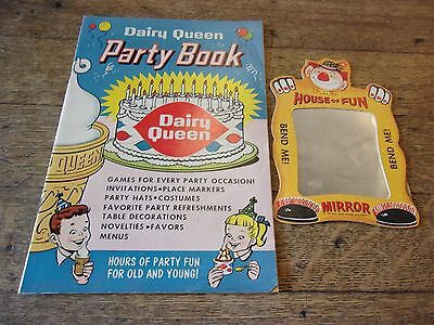 Dairy Queen 1960 party book of Ideals + House of fun mirror