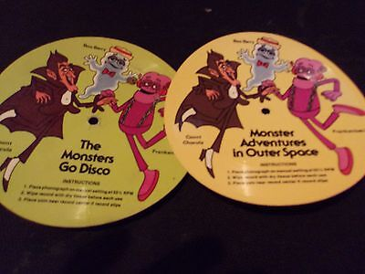 Monster cereal Cardboard records Frankenberry Count Chocula Boo Berry