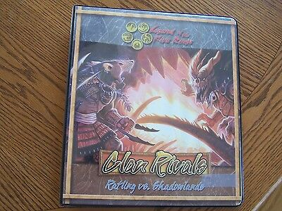 Legend of the Five Rings L5R Clan Rivals Notebook Ratling vs Shadowlands Promo