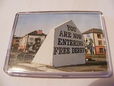FREE DERRY CORNER Collectable Irish Republican Socialist political Magnet Eire