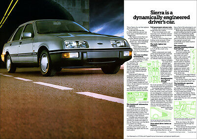 Ford Sierra Ghia Retro A3 Poster Print From Classic 80's Launch Advert