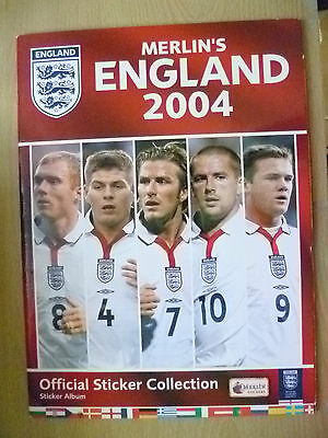 Cricket Sticker Album- Merlin's ENGLAND 2004 Official Sticker Collection+25 pic