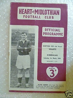 1958 HEART OF MIDLOTHIAN v HIBERNIAN, 1st March (Scottish Cup 3rd RD)