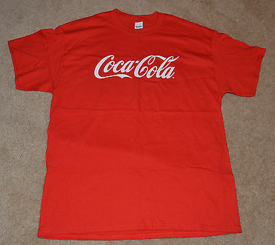 New! Coca Cola RED Shirt (L) (Classic COKE Logo) (LARGE) FAST SHIPPING!!!