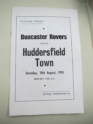 Doncaster Rovers V Huddersfield  Friendly  1970/1