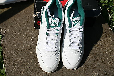 White And Green Pony Cricket Shoes