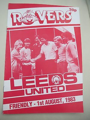 Doncaster Rovers V Leeds Friendly    1983/4