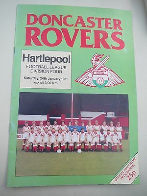 Doncaster Rovers V Hartlepool    1980/1