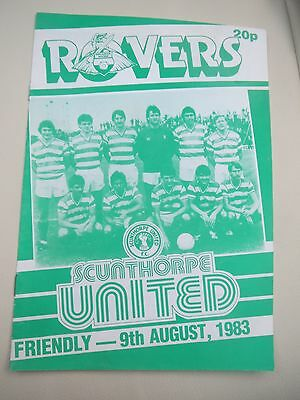 Doncaster Rovers V Scunthorpe Friendly    1983/4