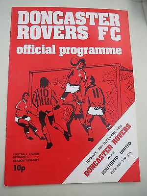 Doncaster Rovers V Southend     1976/7