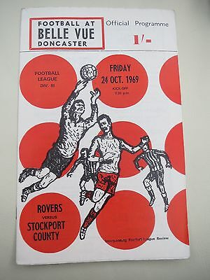 Doncaster Rovers V Stockport   1969/0