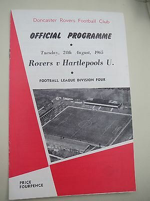 Doncaster Rovers V Hartlepool  1965/6