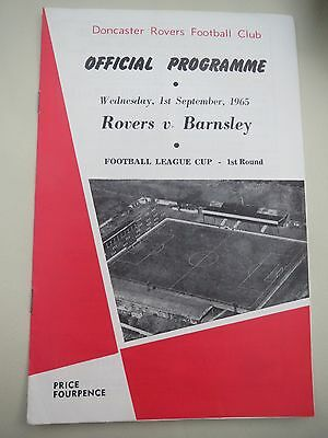 Doncaster Rovers V Barnsley L Cup  1965/6