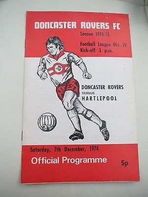 Doncaster Rovers V Hartlepool   1974/5