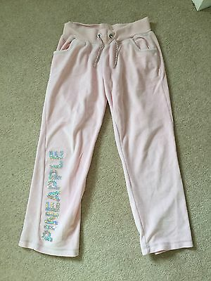 Girls Pineapple pink joggers Tracksuit Bottoms age 8 -9 years