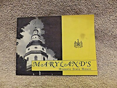 Vintage 1950's Maryland's Historic State House Booklet