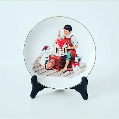 1984 Norman Rockwell A Dollhouse For Sis Miniature Collectors Plate
