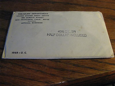 1969 United States Mint Uncirculated Coin Set  **Sealed** Flat AA