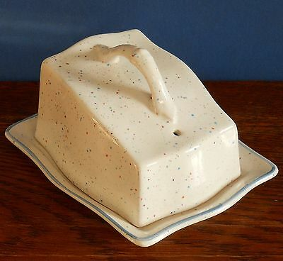 An Arthur Woods Cheese Dish with hand finished speckled glaze