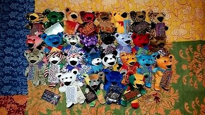 Collectible Liquid Blue Lot of 28 Grateful Dead Bears With tags From the 90's