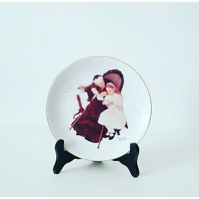1986 The Handkerchiefs By Norman Rockwell Miniature Collectors Plate
