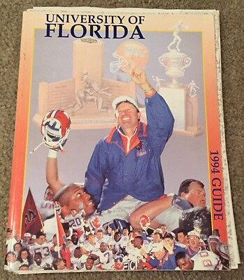 1994 Vintage UNIV. OF FLORIDA GATORS FOOTBALL Guides Programs Signed Autographs