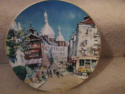 Paris Montmartre Dong Kingman  Ltd Ed Collector Plate Ltd Ed 10 Inch