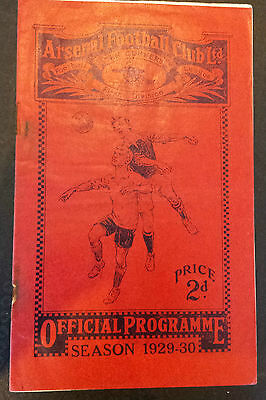 1929/30 ARSENAL v MANCHESTER CITY   *Very Good Condition