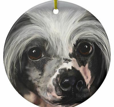 Ornament  - Chinese Crested called Merlin