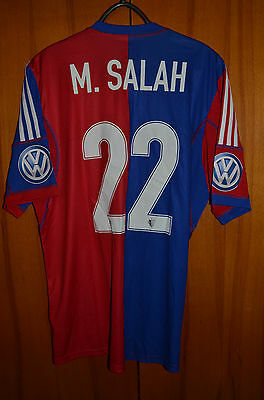 Basel Switzerland 2013/2014 Home Football Shirt Jersey Adidas #22 Salah