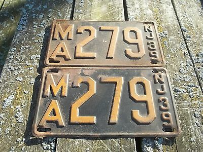1939 New Jersey License Plates