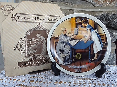 Vintage Knowles Norman Rockwell Mothers Day 1983 Collector Plate MIB COA