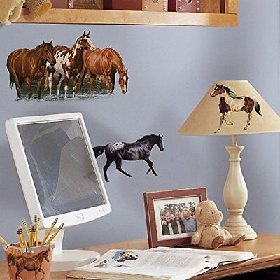 RoomMates RMK1017SCS Wild Horses Peel and Stick Wall Decals