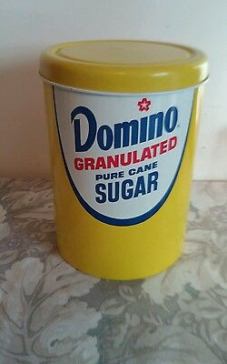 Domino Sugar Metal Tin / Canister w/ Lid
