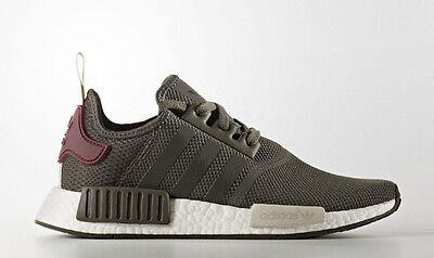 ADIDAS NMD R1  Olive Maroon BA7752 ALL SIZES 6-10 Forrest Green