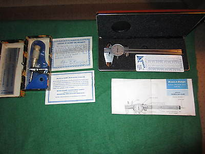 """Brown And Sharpe Dial Caliper In Case And 0-1"""" Micrometer In Box"""
