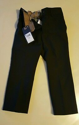 Boys smart black trousers 3years