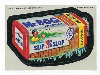 1974 Topps Wacky Packages 11th Series 11 MR. BOG BREAD nm-