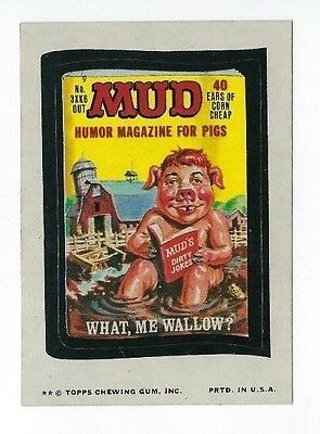 1974 Topps Wacky Packages 11th Series 11 MUD MAGAZINE ex+/nm-