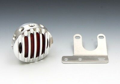 EASYRIDERS Drilled Hole Fin Tail and Face Set for Standing License Plate