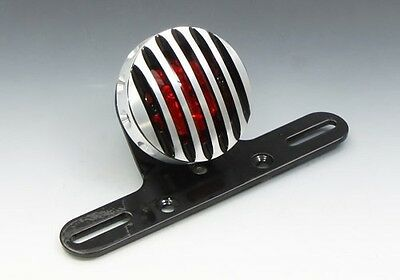 EASYRIDERS Drilled Fin Tail Light Set [Aluminum/Contrast]