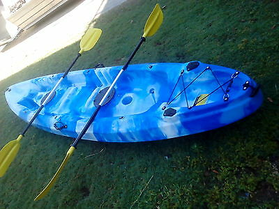 OCEAN GOING 2.5 seat 3.7 mtr KAYAK with TWO SPORT PADDLES
