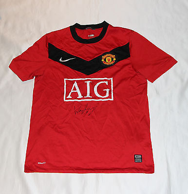 Manchester United Football Shirt Signed By Wayne Rooney with COA